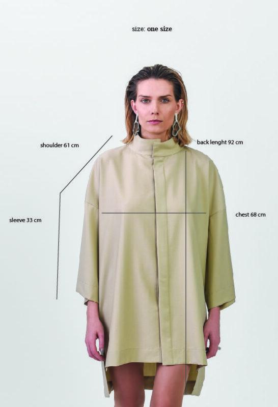 model with sand color shirts onesize unisex