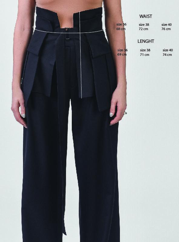 black waist belt with pockets
